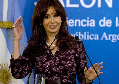 Cristina Kichner, presidenta de Argentina