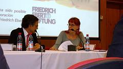 Cortázar junto a Tehani Staiger de la Plataforma Audiovisual