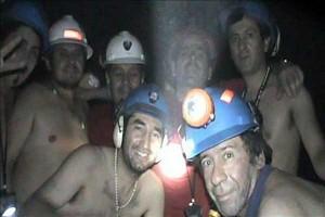 mineros interior mina